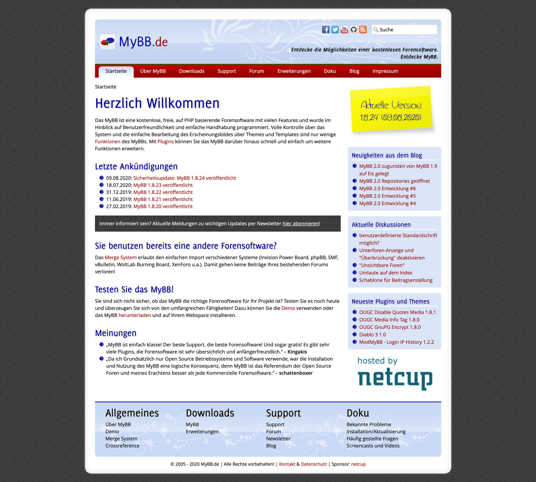 myBB ist eine deutsche Forensoftware, die definitiv einen genaueren Blick wert ist