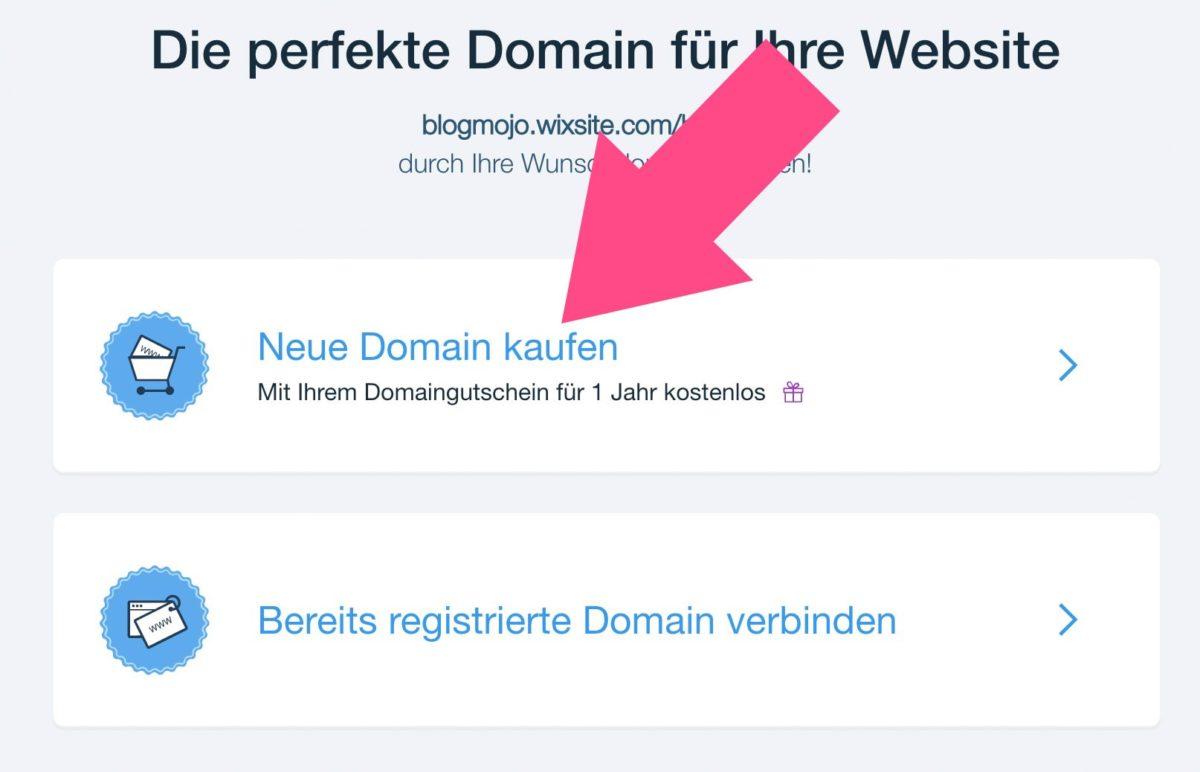 Neue Domain kaufen