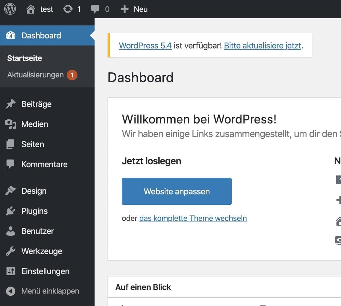 Neue WordPress-Version ist verfügbar