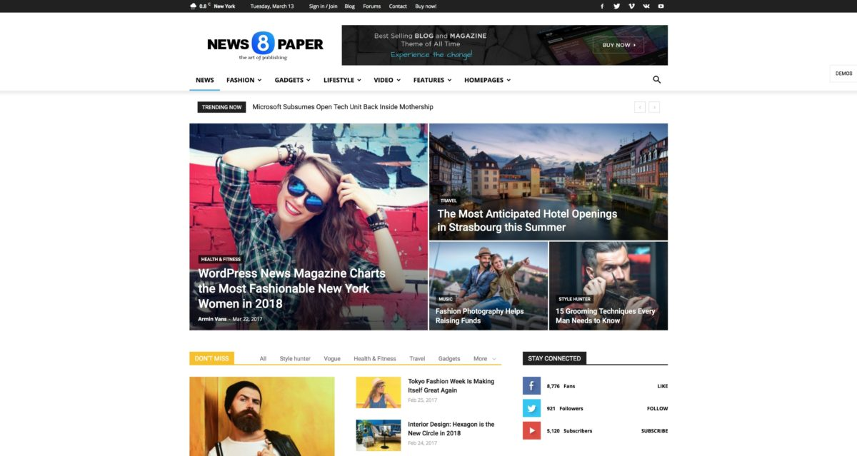 Newspaper WordPress Magazin-Theme