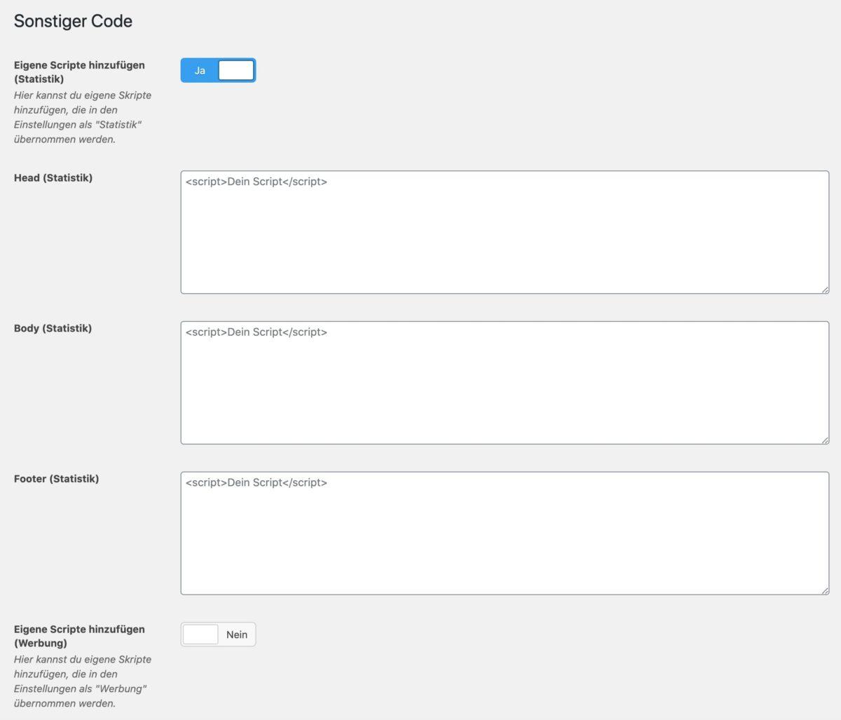Opt-in für sonstige Scripte mit DSGVO Pixelmate einbinden