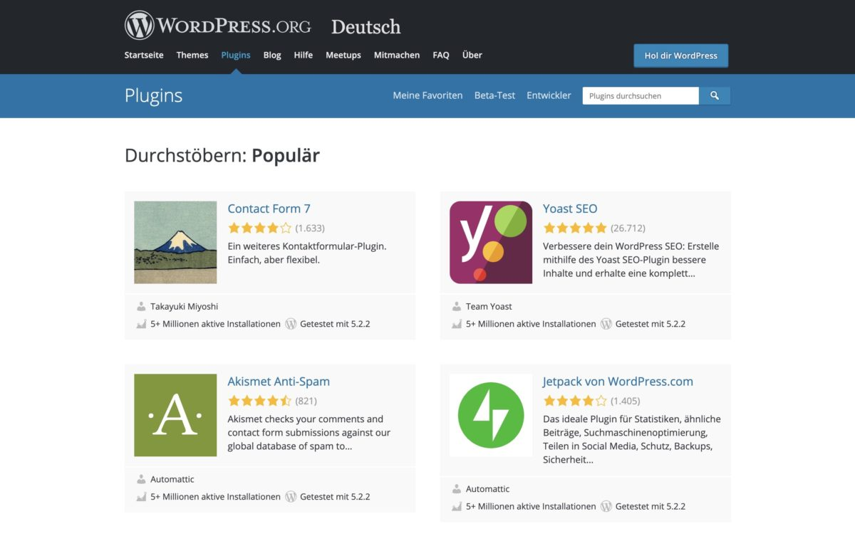 Plugins erweitern WordPress-Sites um praktische Funktionen