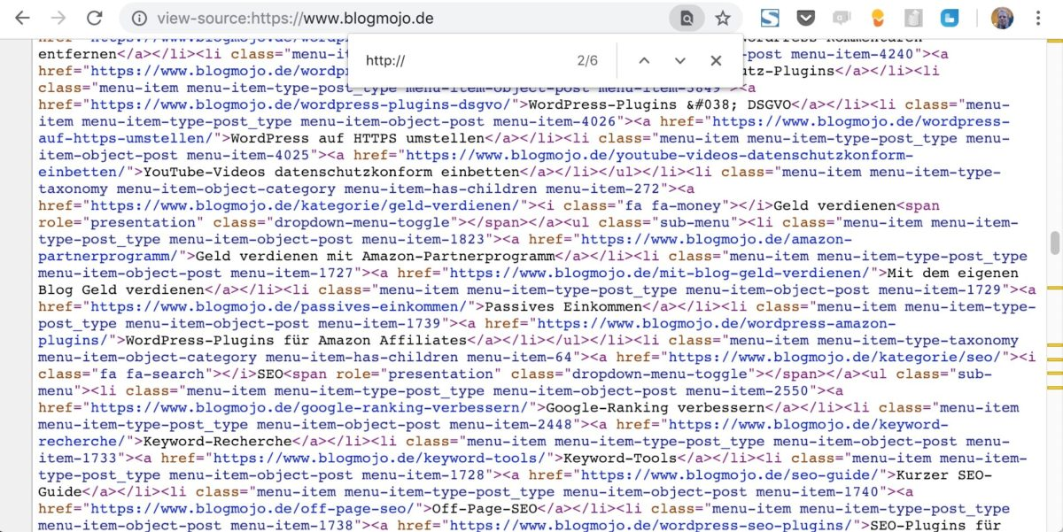 Examiner le code source pour HTTP