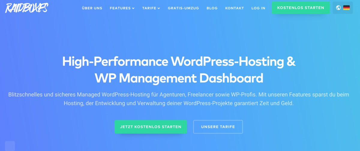 Managed WordPress-Hosting bei Raidboxes