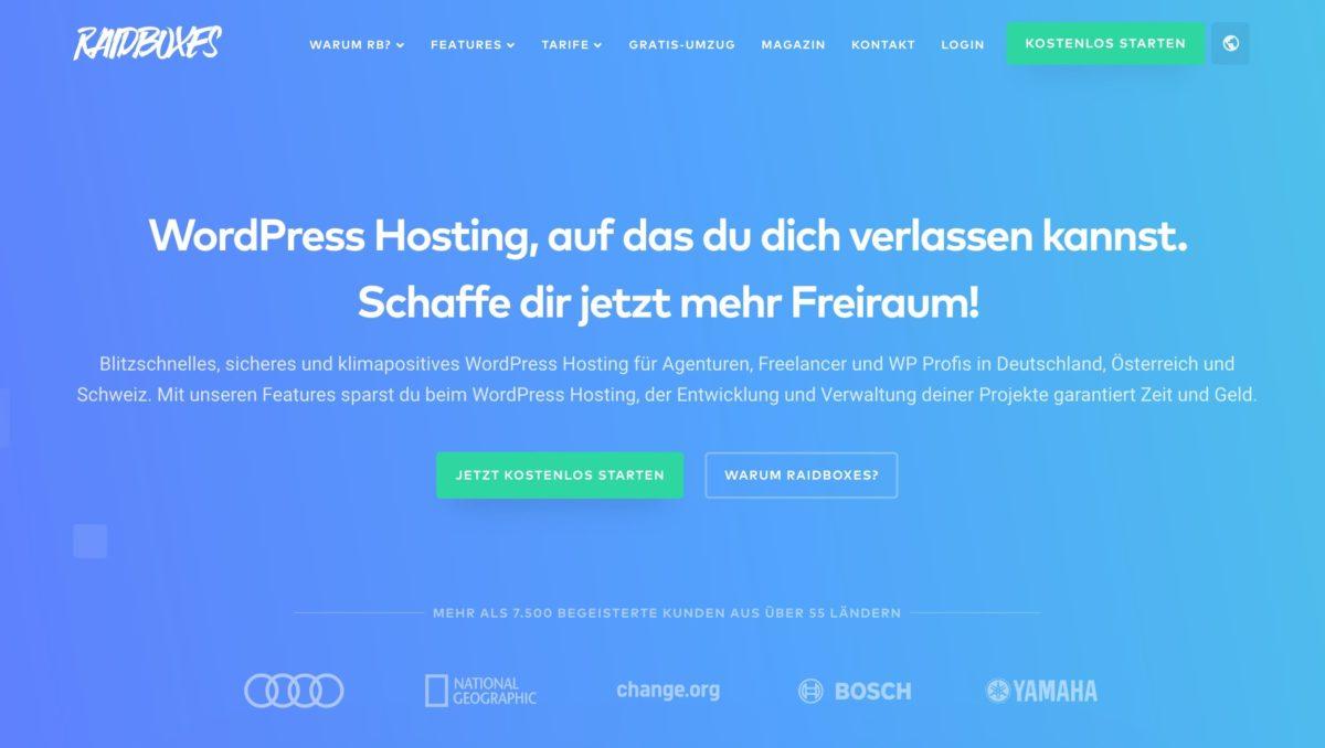 Raidboxes Webhosting