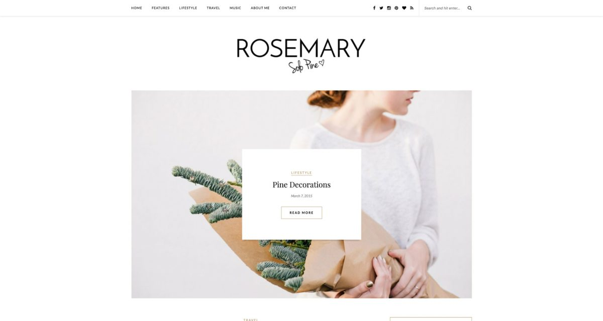 Rosemary WordPress Blog-Theme