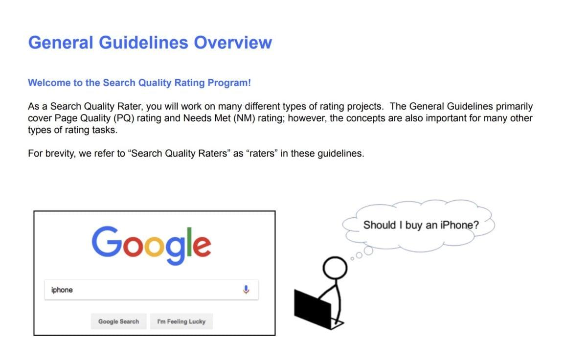 Search Quality Evaluator Guidelines als Quelle für Google-Ranking-Faktoren