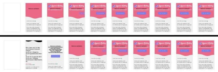 Seite mit kritischem CSS vs Seite ohne kritisches CSS