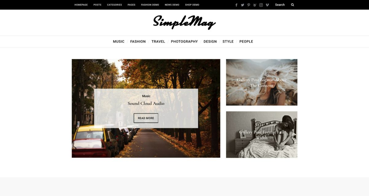 SimpleMag WordPress Magazine-Theme