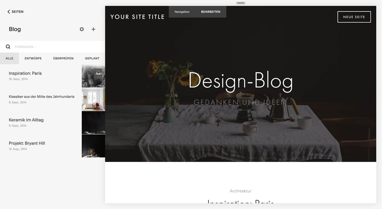 Squarespace bietet ein der besten Blogging-Funktionen unter allen Baukästen