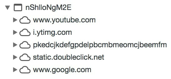 Standard YouTube-Embed in den Chrome Developer Tools