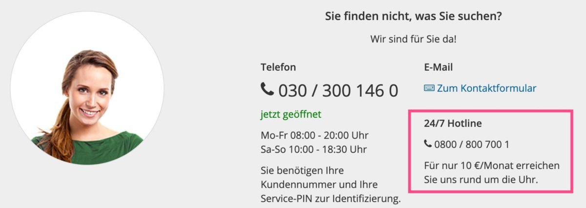 Die 24-Stunden-Hotline von STRATO kostet 10 € im Monat zusätzlich
