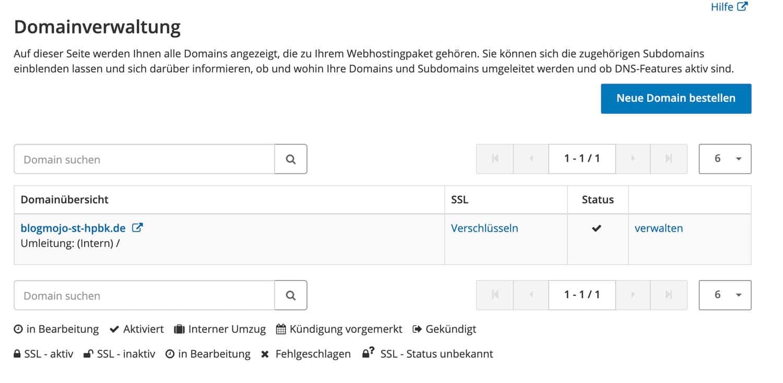 In der Strato Domainverwaltung kannst du Domains einfach mit dem Homepage Baukasten verbinden