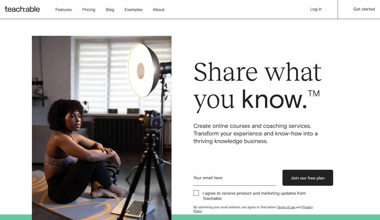 Teachable bietet die meisten Funktionen für die Erstellung eines Online-Kurses aus einer Hand.