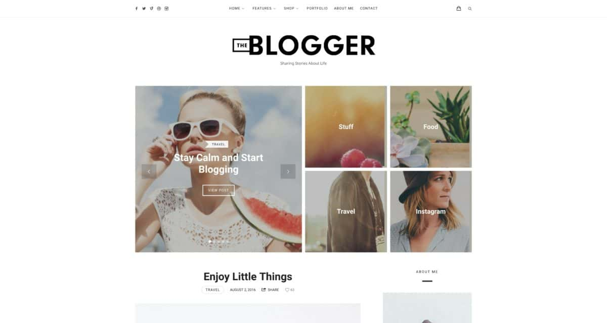 TheBlogger WordPress Blog-Theme