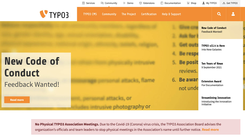 TYPO3 ist ein System für große und komplexe Websites