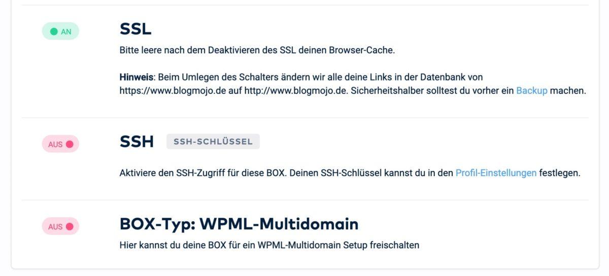 Umstellung auf SSL im RAIDBOXES Dashboard