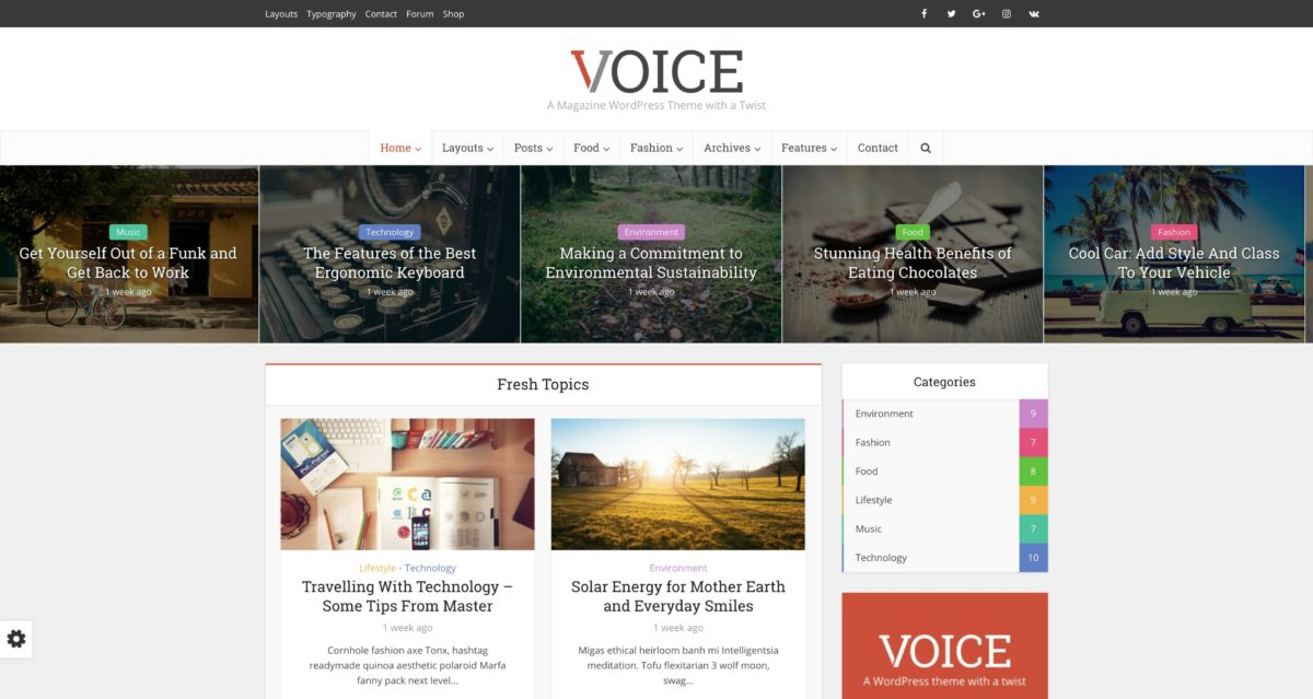 Voice WordPress Magazine-Theme