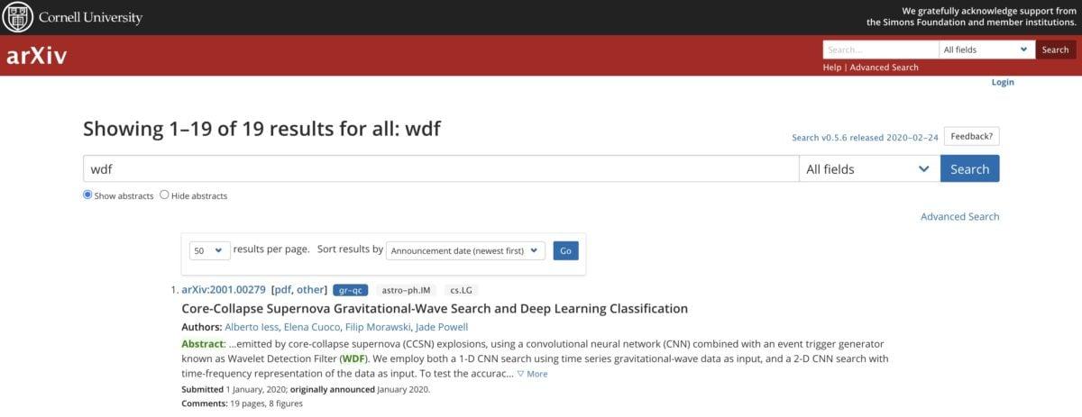 WDF bei arXiv.org