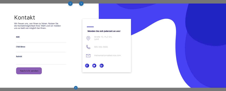 Die Kontaktformulare des webgo Homepage Baukastens glänzen durch wirklich tolles Design