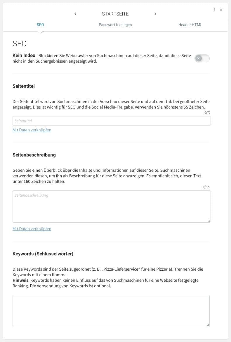 Der webgo Homepage-Baukasten ist mit tollen SEO Features ausgestattet