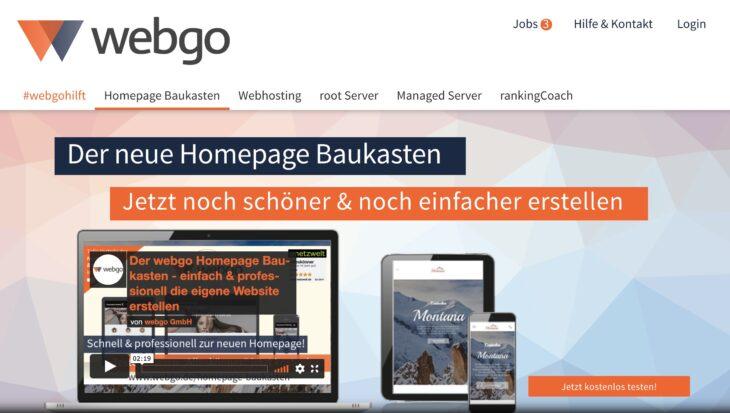 webgo Homepage-Baukasten