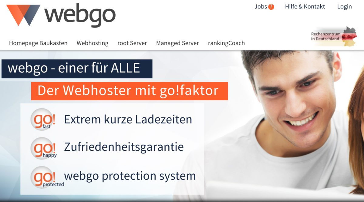 WordPress-Hosting bei webgo