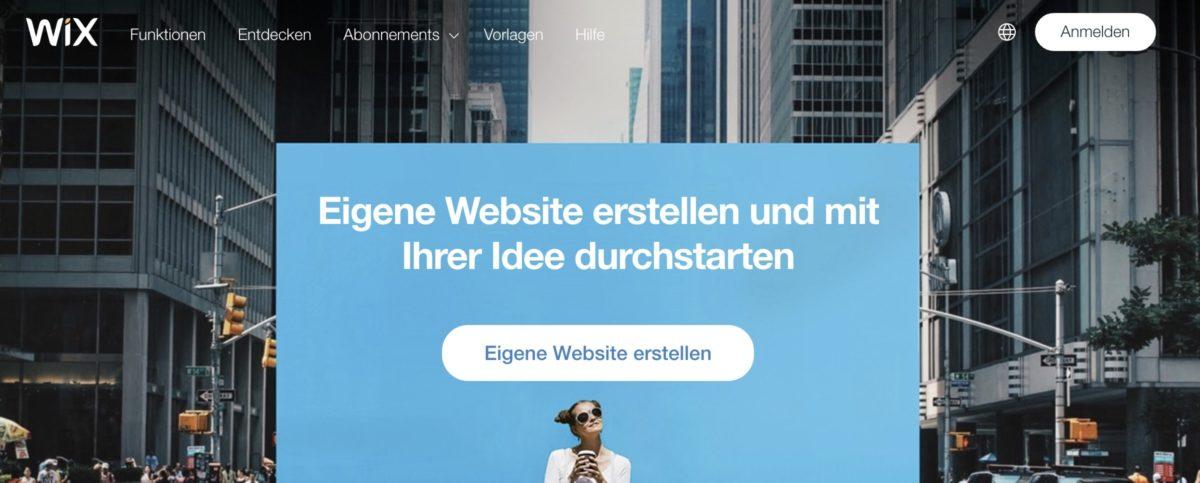 Website mit einem Homepage-Baukasten erstellen