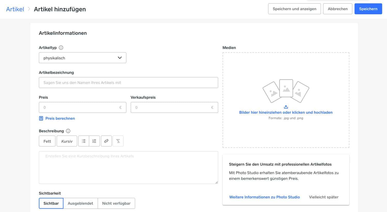 Bei Weebly kannst du schnell und einfach neue Produkte anlegen und veröffentlichen. Diese lassen sich im Anschluss direkt auf deiner Website einbinden