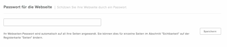 Bei Weebly kannst du einzelne Seiten oder deine gesamte Website mit einem Passwort schützen