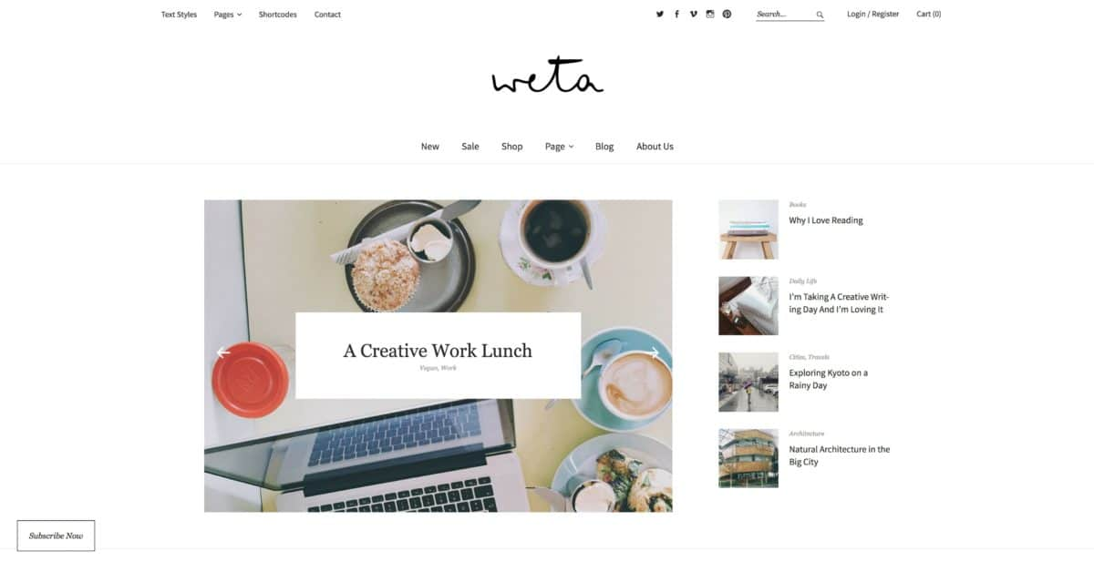 Weta WordPress Blog-Theme