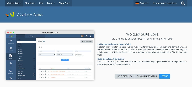 Eine weitere sehr beliebte deutsche Forensoftware ist WoltLab Suite