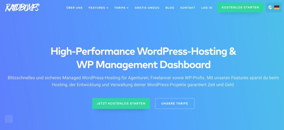 WordPress-Blog bei Raidboxes erstellen