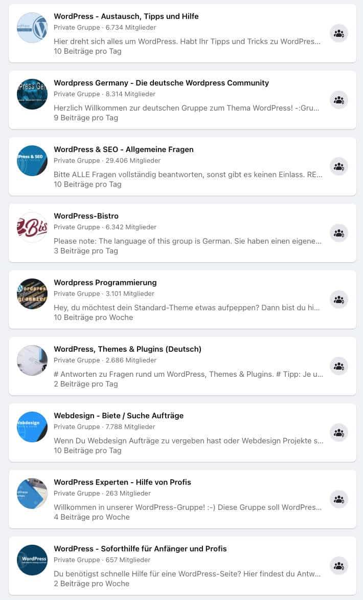 Die WordPress Community ist gigantisch groß und bietet schnelle Hilfe