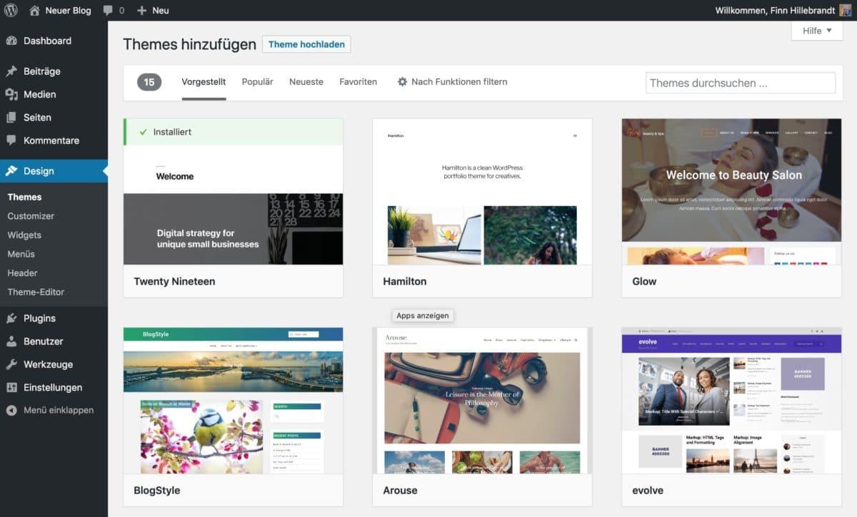 Theme-Verzeichnis von WordPress