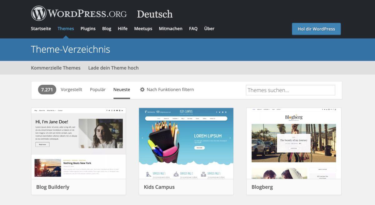 WordPress-Websites kann man mit zahlreichen Themes gestalten