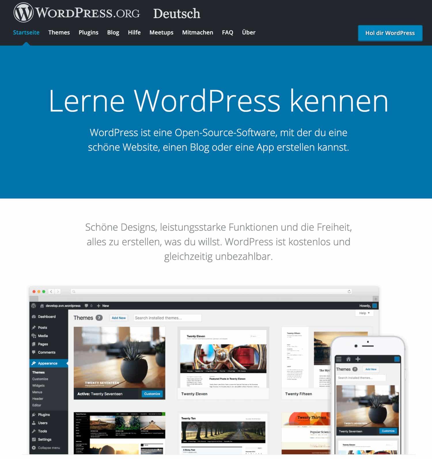 Bei WordPress.org ist der Grad der Eigenverantwortung deutlich höher als bei WordPress.com