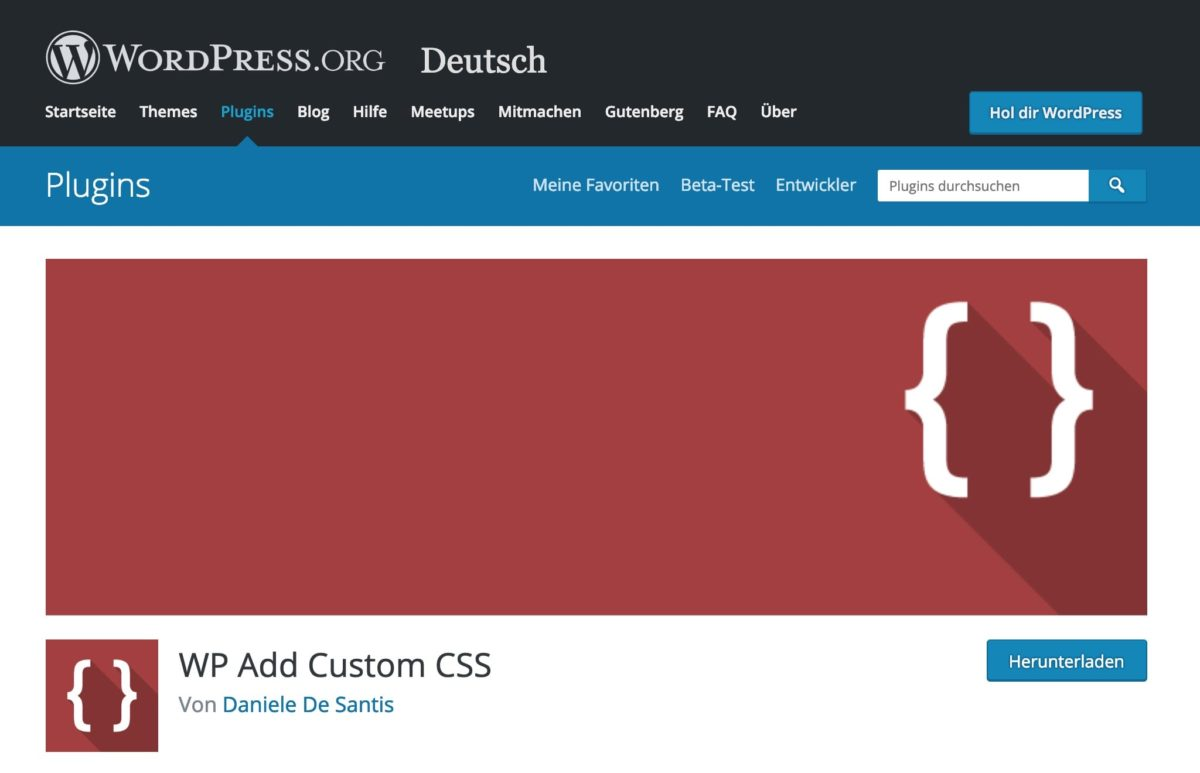 WP Add Custom CSS