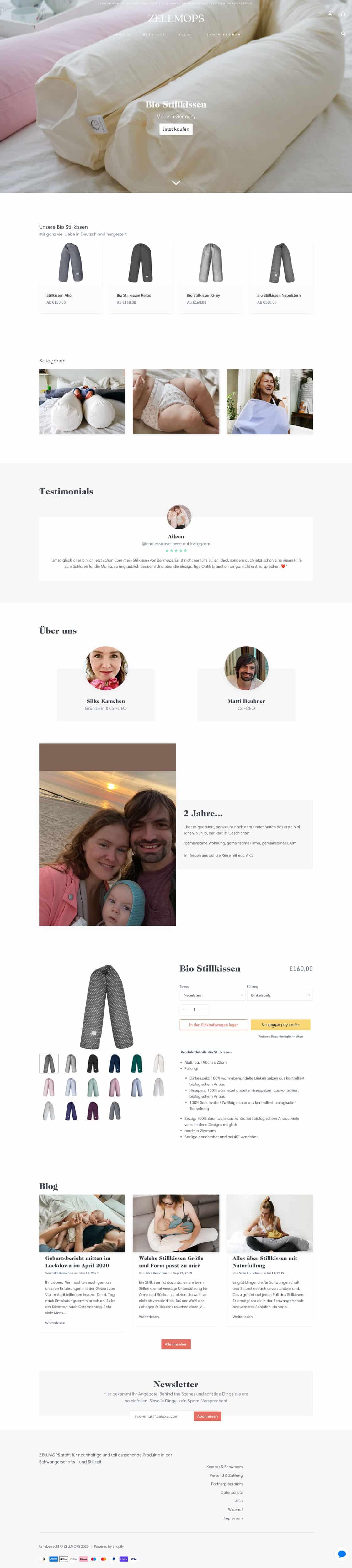 Zellmops ist ein tolles Beispiel für eine mit 1&1 erstellte Website