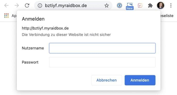 Zusätzlicher Passwort-Schutz bei RAIDBOXES